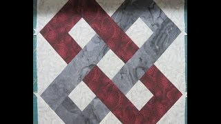 ⛓ Quilt Block: Friendship Link⛓ Learning To Sew Partial Seam