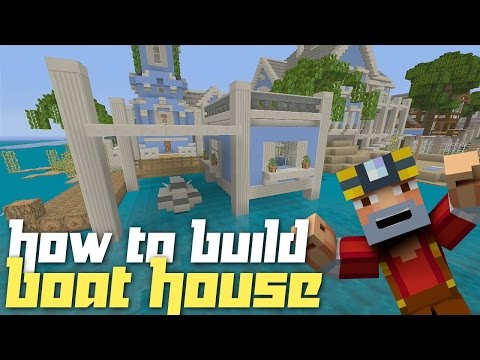 Minecraft Xbox 360: How to Build a Boat House w Jet Ski