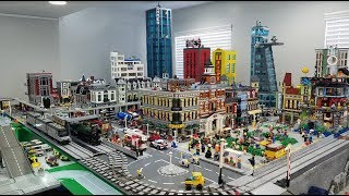 COMPLETE OVERVIEW: Over 350 Square Foot LEGO City!!!