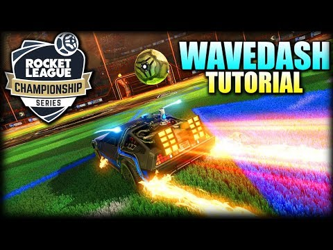 Como hacer WAVEDASH muy fácil en Rocket League   Como mejorar y ser mas bueno