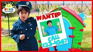 Ryan Pretend Play Police Helps find Daddy!!