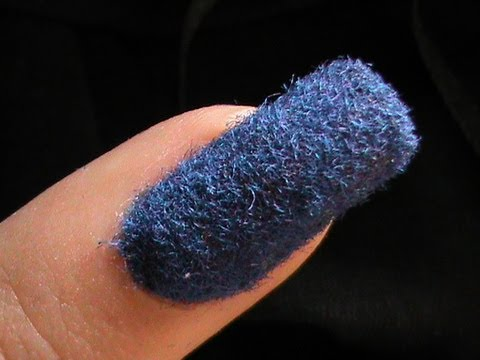 Flocking Nails -- Velvet Nail Art with Flocking Powder Tips DIY Nail Polish Beginners Home Tutorial