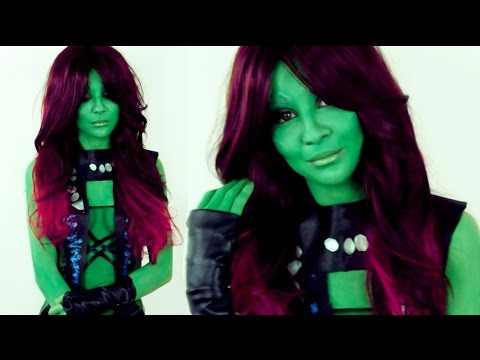 Guardians of the Galaxy Gamora make up tutorial by Anastasiya Shpagina