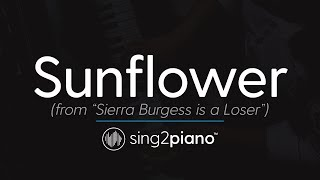 Sunflower Piano Karaoke Instrumental Shannon Purser