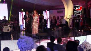 مي سليم تغني «يا حبيبتي يا مصر» في حفل قناة النيل للدراما