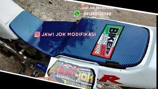 Jok Ninja Ambles Custom Plat Sarung Jok Karbon Kevlar Glossy Thailand