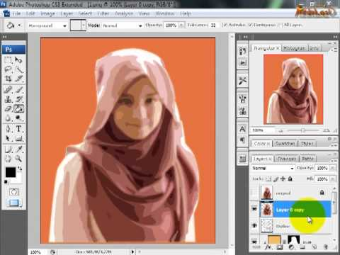 Tips Trik Edukasi - Membuat Kartun Pada Photoshop Cs3 video