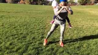 FitMom Leg workout in the park.