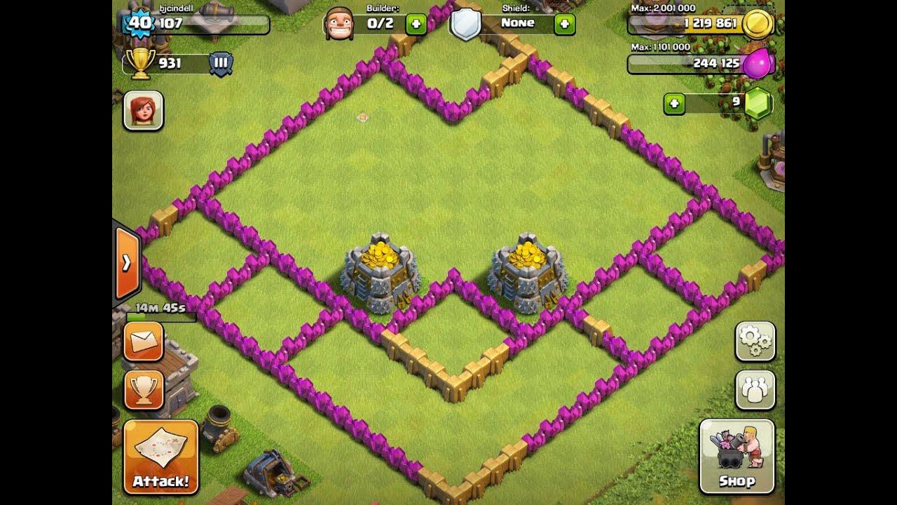 Clash of clans th6 farming setup a fresh start youtube