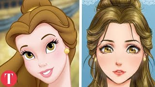 10 disney princesses reimagined as anime characters