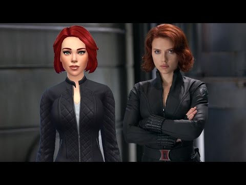 Actress SCARLETT JOHANSSON as Black Widow * Best Celebrity Sims of the Sims 4 community