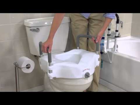 Drive Medical 2 In 1 Locking Elevated Toilet Seat With