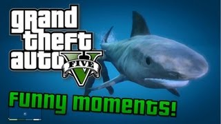 GTA V: Funny Moments! Shark Attack, Funny Faceplant Glitch, Chicken Fails (GTA 5 Gameplay)