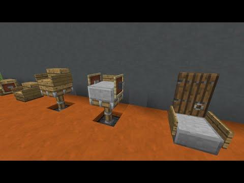 Красивые стулья и кресла в майнкрафт - Как сделать?
