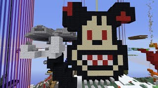 I asked my Subscribers to build a knock-off Disneyland in Minecraft