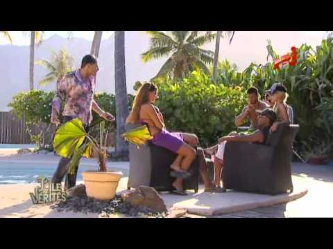 L'île des vérités - Medi pousse Giuseppe dans la piscine (Episode 11)
