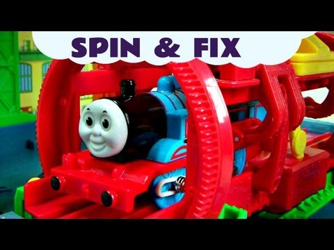 Trackmaster Thomas The Tank Engine SPIN & FIX Kids Toy Train Set Thomas And Friends