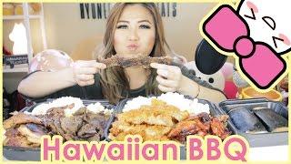 HAWAIIAN BBQ + SPAM MUSUBI | MUKBANG