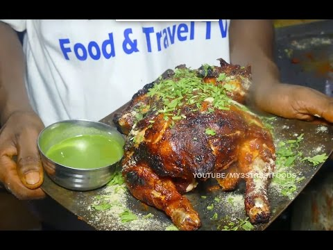 AMAZING FOODS | Grilled Chicken | FULL BIRD Grilled | INDIAN STREET FOOD | 4K ULTRA HD | 4K VIDEO