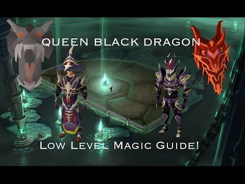 Runescape Detailed Low Level Queen Black Dragon (QBD) Guide! With Magic! EOC 2013 no super antifire
