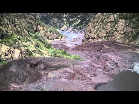 Landslide in Darial Gorge of Georgia