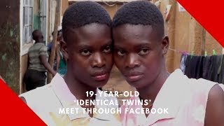 19-year-old 'identical twins' switched at birth meet through Facebook