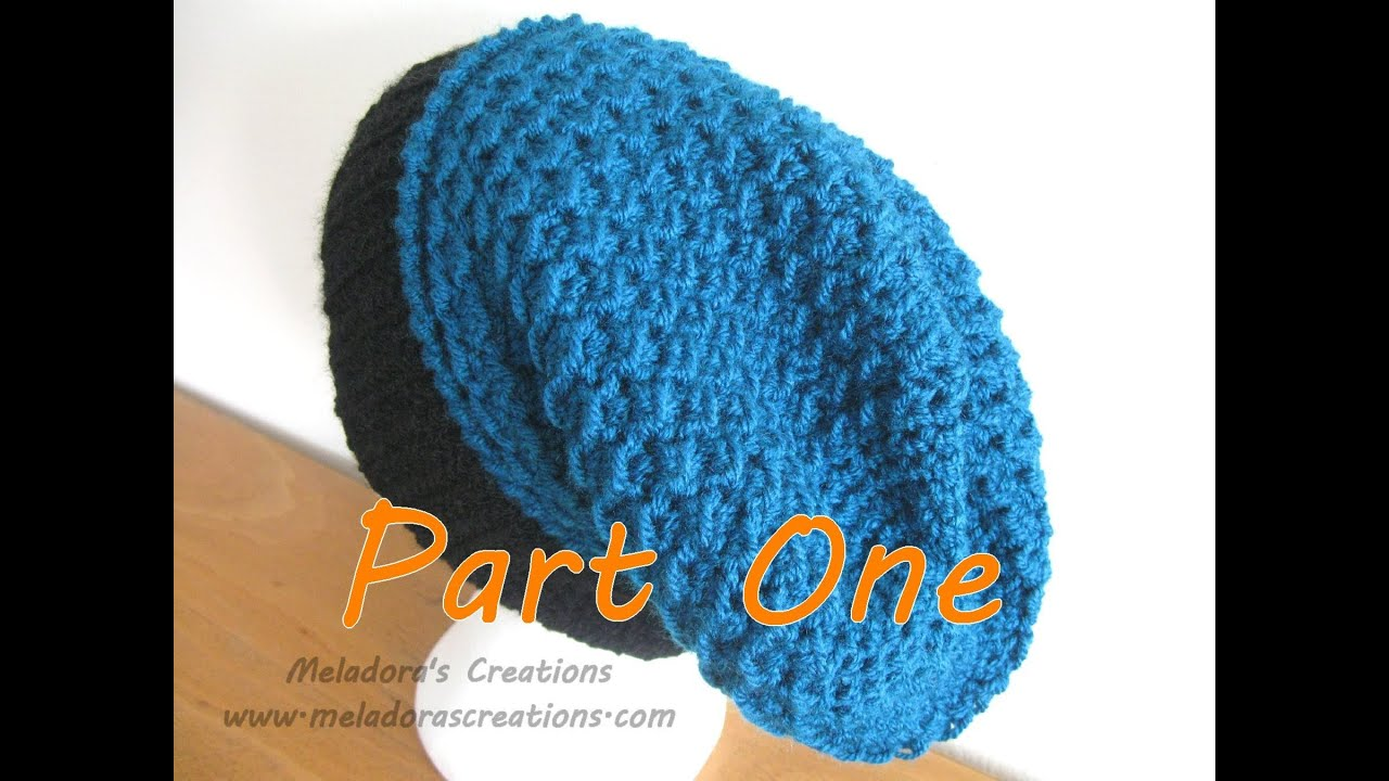 Beginner Crochet Hat Tutorial : Moss Stitch Slouch Hat Tutorial Pt 1 - Crochet tutorial ...