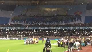 Napoli-Real Madrid: urlo The Champions ripreso dalla Curva B
