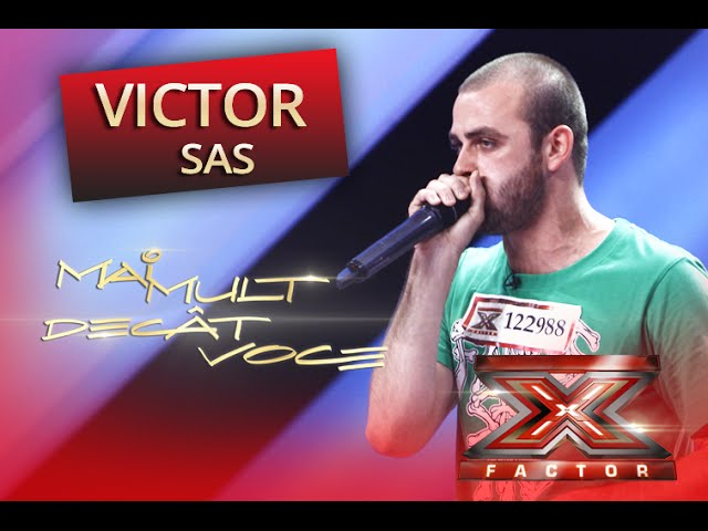 "Victor Sas face beatbox pe melodia ""I Like To Move It"", la X Factor!"