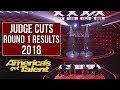 AGT RESULTS - JUDGE CUTS Round 1    America's got talent 2018