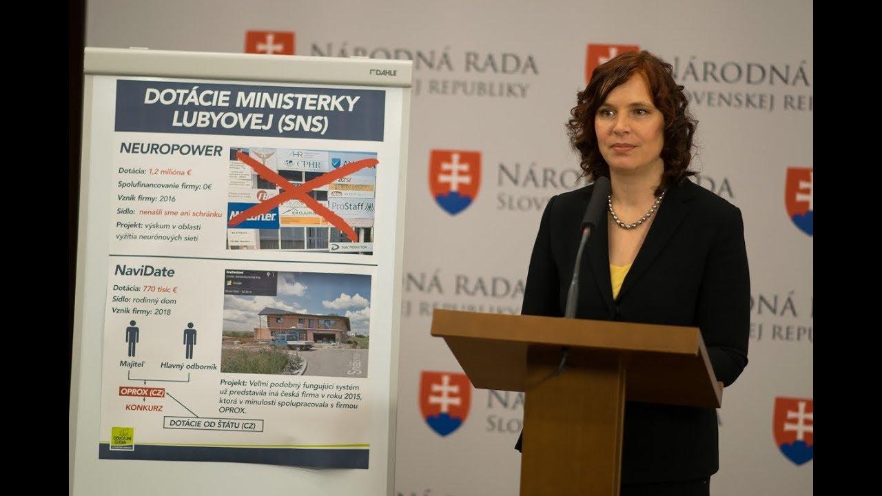 Ďalšie škandalózne dotácie ministerky školstva Lubyovej - YouTube