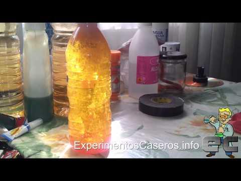 Cómo hacer una lámpara de lava casera (Experimentos Caseros)