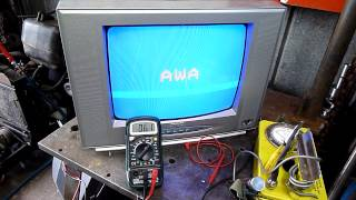 Extreme CRT TV Heater Voltages While On