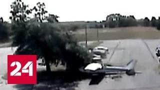 Крушение самолета в США: от неминуемой гибели пилота спасло дерево