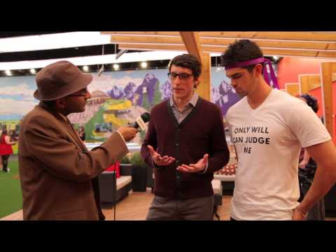 Murtz Jaffer Interviews Peter Brown & Alec Beall In Backyard At Big Brother Canada Finale