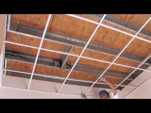 Panel rey como instalar un plafon youtube for Como poner chirok en el techo