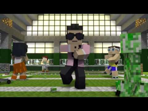 Oppa Gangnam Style Minecraft video