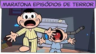 👻 Maratona de Terror 👻 (+1h20 para rir na cara do medo!) | Turma da Mônica