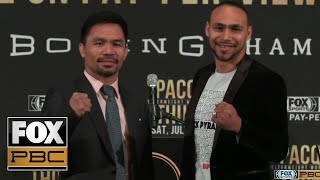 Manny Pacquiao vs. Keith Thurman official LA Press Conference LIVE