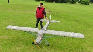 1/4 SCALE RC FIESELER STORCH FI 156 STOL - LAZER 330 V TWIN - CHRIS HARLE AT WESTON PARK - 2016