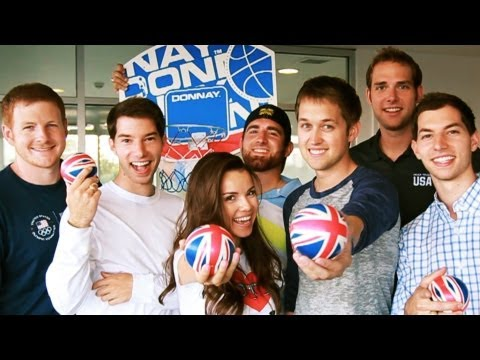 HOTEL DROP SHOT with Dude Perfect, Missglamorazzi, and Luke Conard!