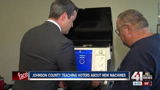 Johnson County teaching voters how to use new voting machines