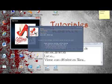 Windows Media Player - Letras en Pantalla Karaoke (Minilyrics)