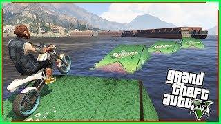 แข่งมอเตอร์ไซต์บนทะเล-GTA V(Funny Racemap)