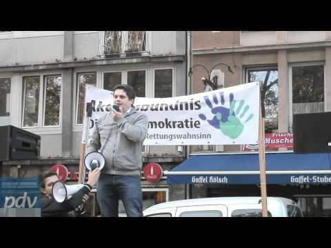 Anti Euro Demo der Partei der Vernunft (PDV) in Köln vom 05.11.2011