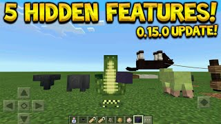 Minecraft Pocket Edition 0.15.0 - 5 Hidden Features Tips & Tricks You Did Not Know (Minecraft PE)