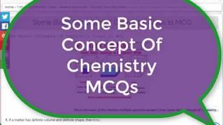 Chemistry Quiz: Some Basic Concept of Chemistry MCQs