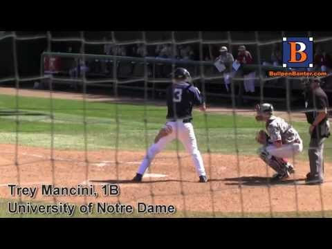 TREY MANCINI PROSPECT VIDEO, 1B, UNIVERSITY OF NOTRE DAME