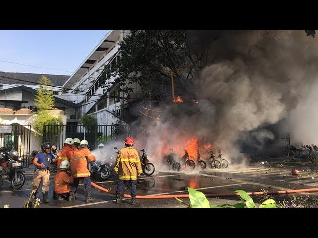 Six family members carry out deadly suicide bombing in Indonesia