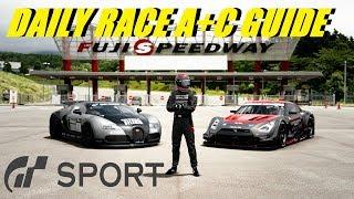 GT Sport Daily Race A + C Guide Fuji Speedway GR 4 + GR 2